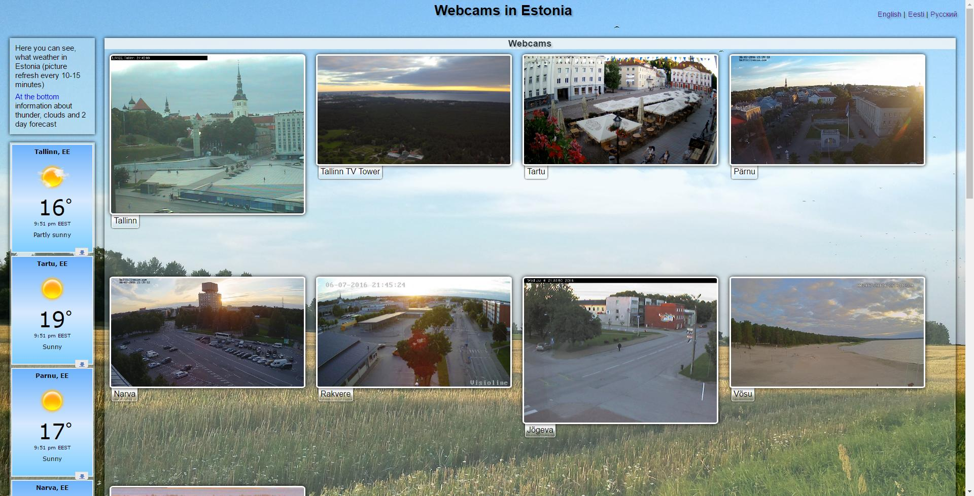 Estonian webcams